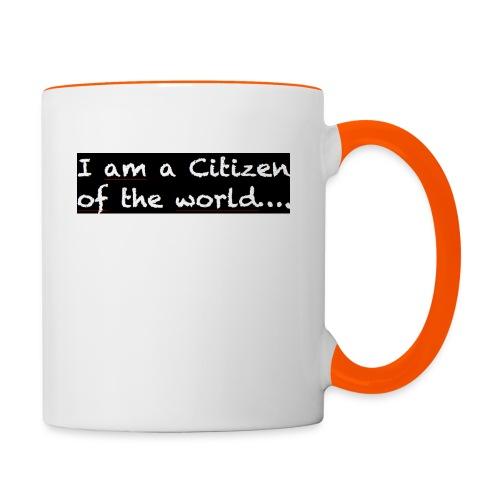 I am a citizen of the world - Tvåfärgad mugg