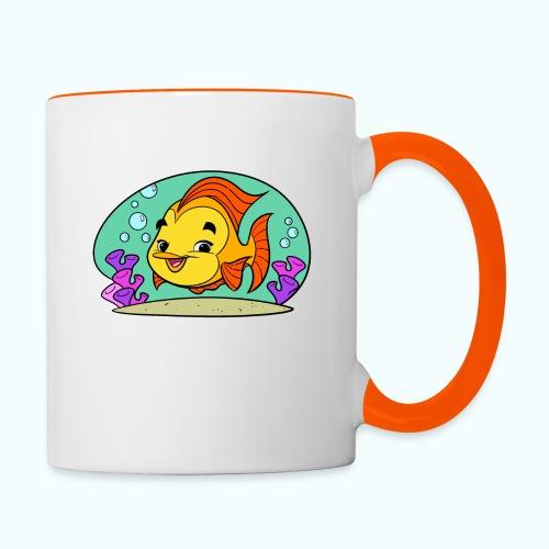 Fishy Tiny Art Collection - Contrasting Mug