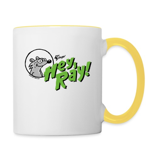 Hey Ray Logo green - Tasse zweifarbig