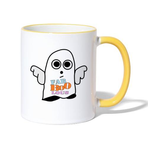 Halloween Geist BOO - Tasse zweifarbig