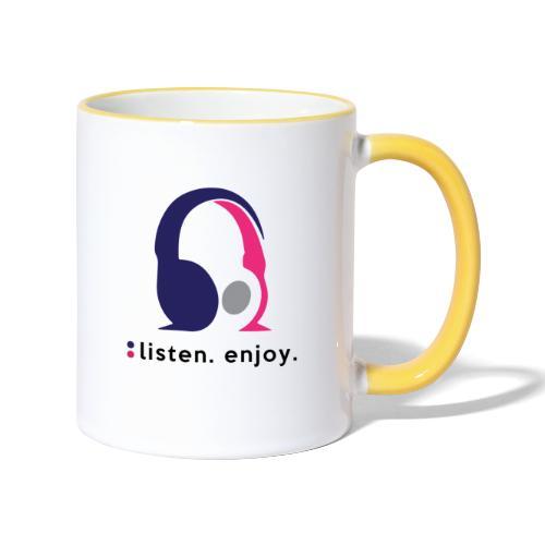 liste. enjoy. - Contrasting Mug