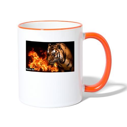 Tiger Flame - Tofarvet krus