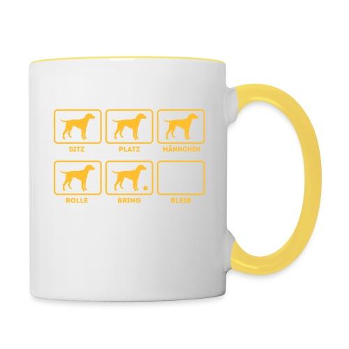 Für alle Hundebesitzer mit Humor - Tasse zweifarbig
