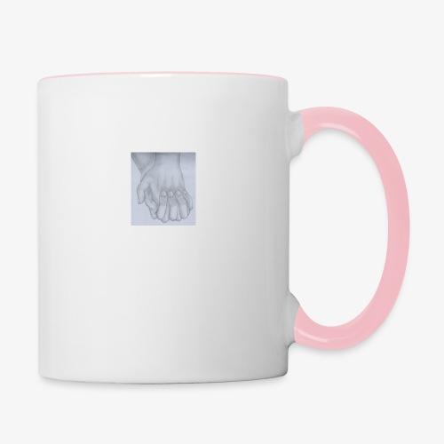 main dans la main - Mug contrasté