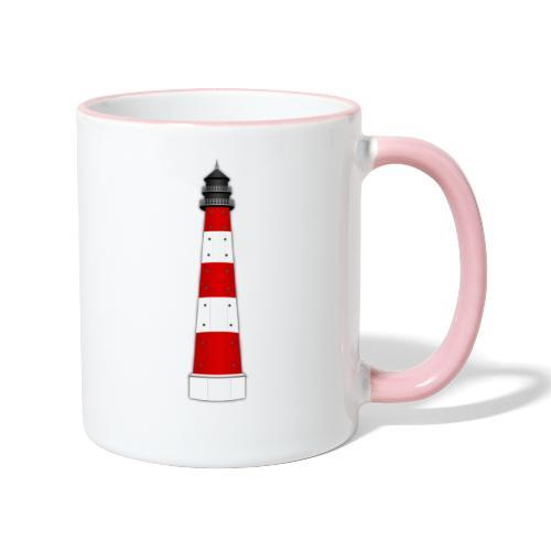 Leuchtturm - Tasse zweifarbig