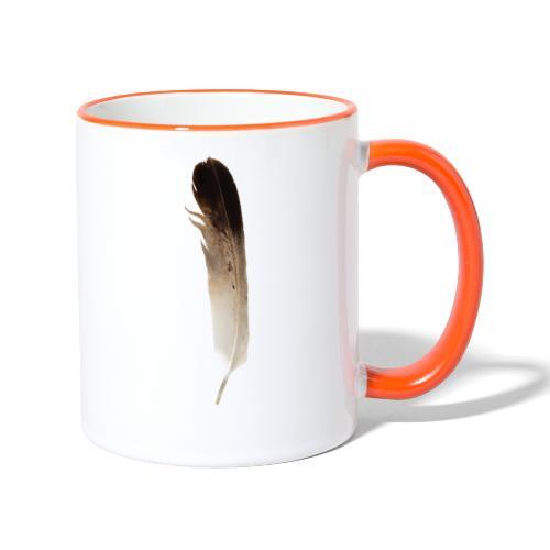 Vogel Feder - Tasse zweifarbig