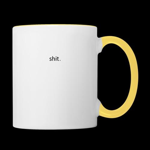shit. - black - Contrasting Mug