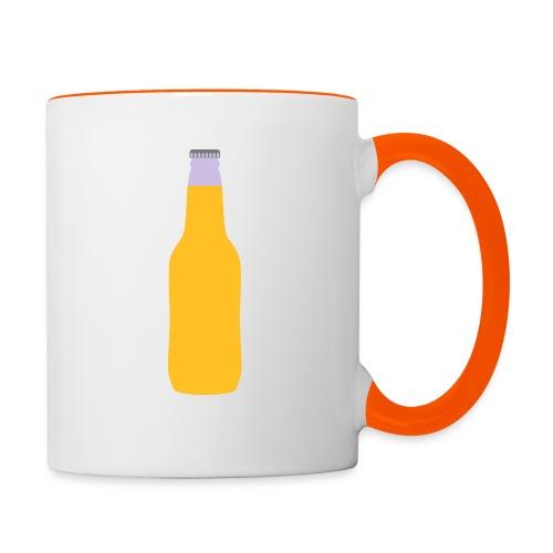 Bierflasche - Tasse zweifarbig