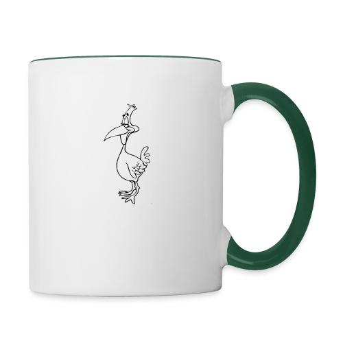 Vogel Design - Tasse zweifarbig