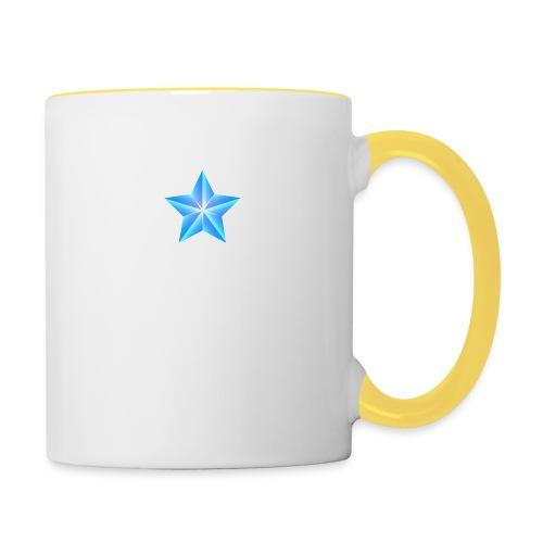blue themed christmas star 0515 1012 0322 4634 SMU - Contrasting Mug