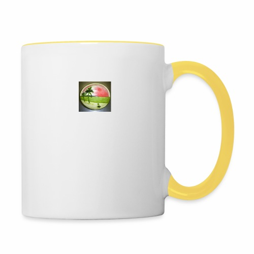 melon view - Contrasting Mug