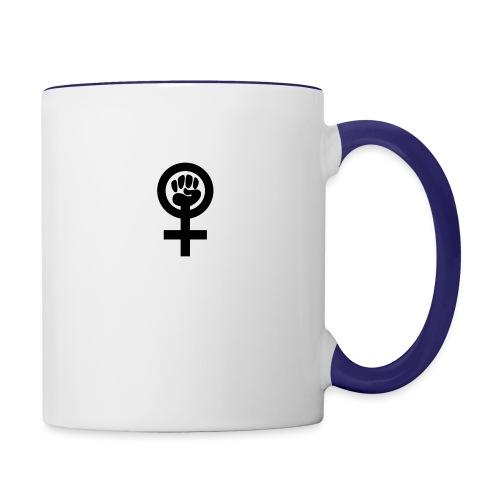 Feminism - Tvåfärgad mugg