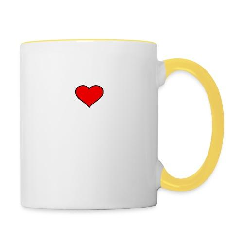 big heart clipart 3 - Tvåfärgad mugg