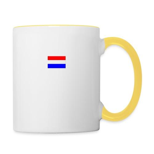 vlag nl - Mok tweekleurig