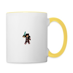 minecraft_skin_warrior__by_acxelion-d5wn0ky - Tasse zweifarbig