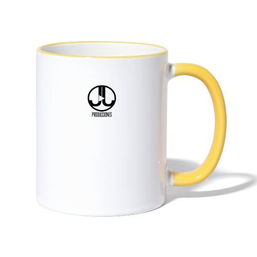 Logo JJ Producciones - Taza en dos colores