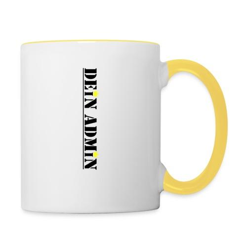 DEIN ADMIN - Motiv (schwarze Schrift) - Tasse zweifarbig