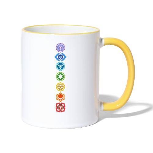 The 7 Chakras, Energy Centres Of The Body - Contrasting Mug