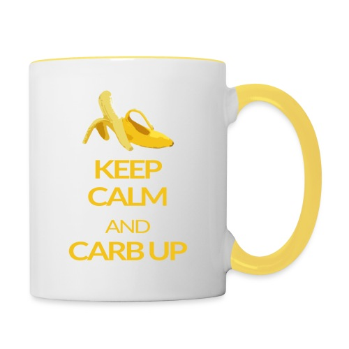 KEEP CALM and CARB UP - Tasse zweifarbig