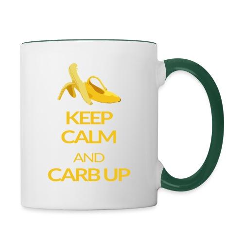 KEEP CALM and CARB UP - Tasse zweifarbig