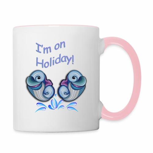 I'm on holliday - Contrasting Mug