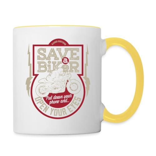Save A Biker - Contrasting Mug