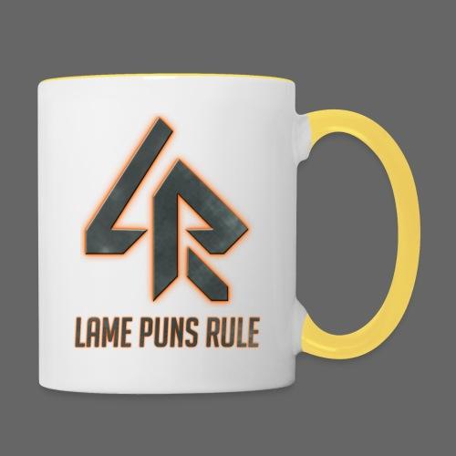 Lame Puns Rule: Logo - Contrasting Mug