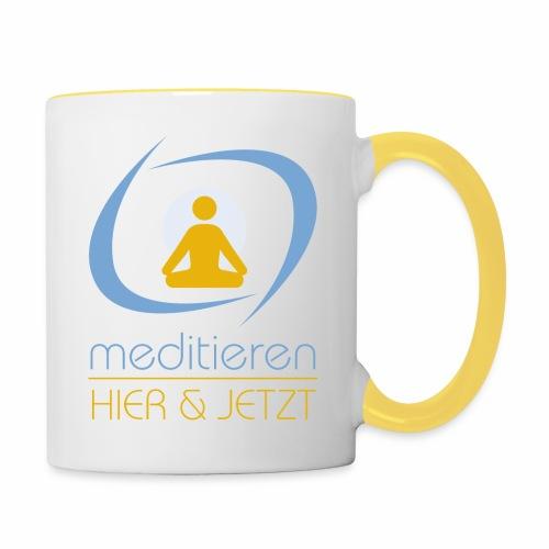 MeditierenHierJetzt.ch - Tasse zweifarbig