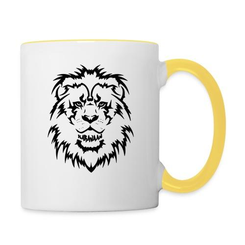 Karavaan Lion Black - Mok tweekleurig