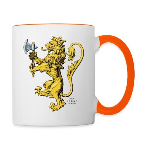 Den norske løve i gammel versjon - Tofarget kopp