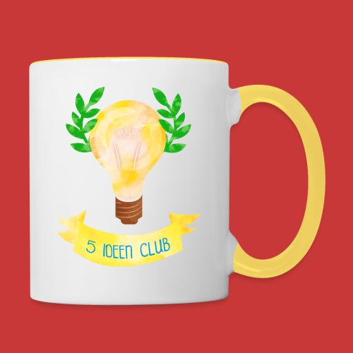 5 IDEEN CLUB Glühbirne 2018 - Tasse zweifarbig