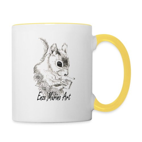Ecureuil la clope - Mug contrasté