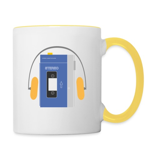 Stereo walkman in blue - Contrasting Mug