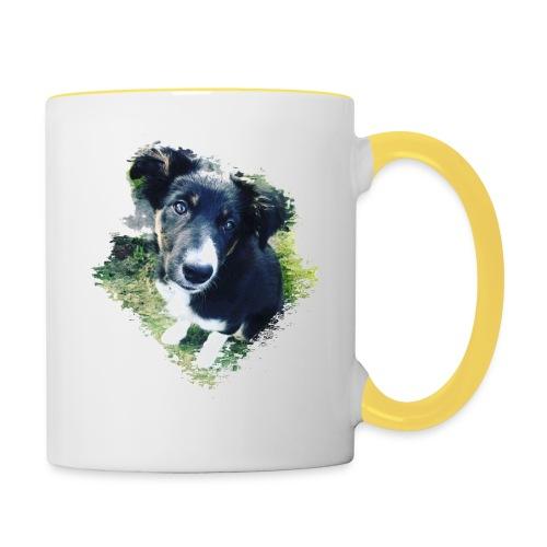 colliegermanshepherdpup - Contrasting Mug