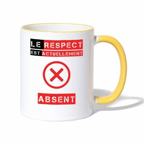 Le respect est actuellement absent - Mug contrasté