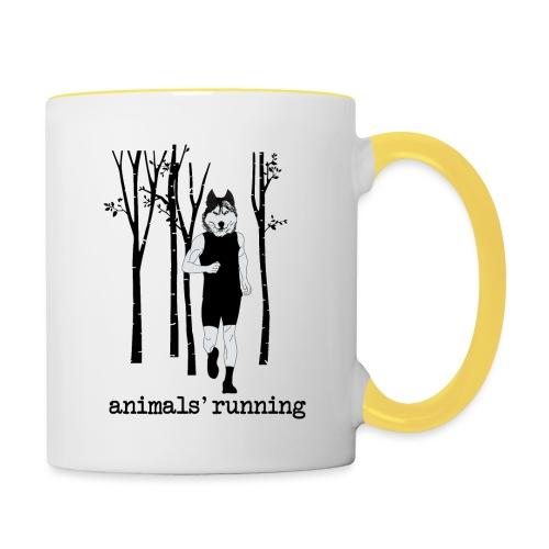 Loup running - Mug contrasté