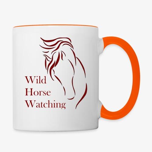 Logo Aveto Wild Horses - Tazze bicolor