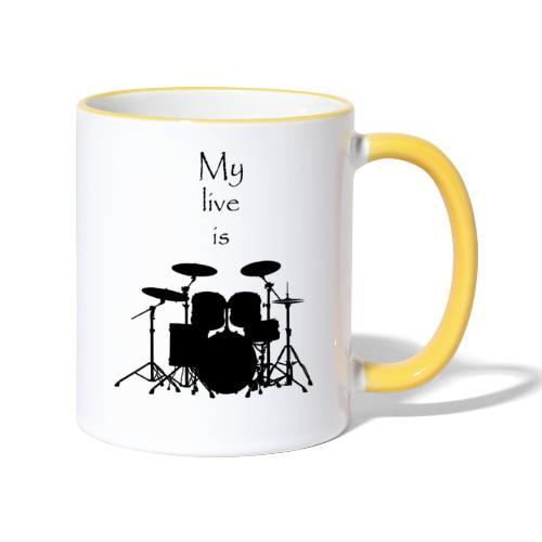 mylifeisdrums - Mug contrasté