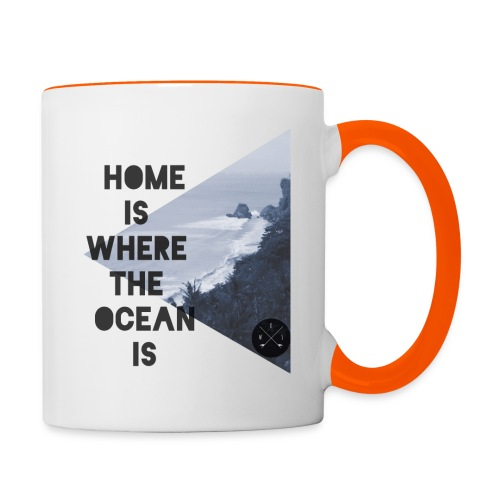home is - Tasse zweifarbig