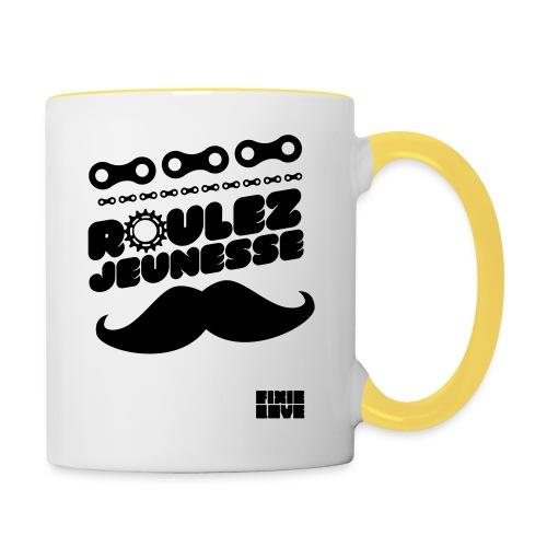 tee-shirt fixie - Mug contrasté