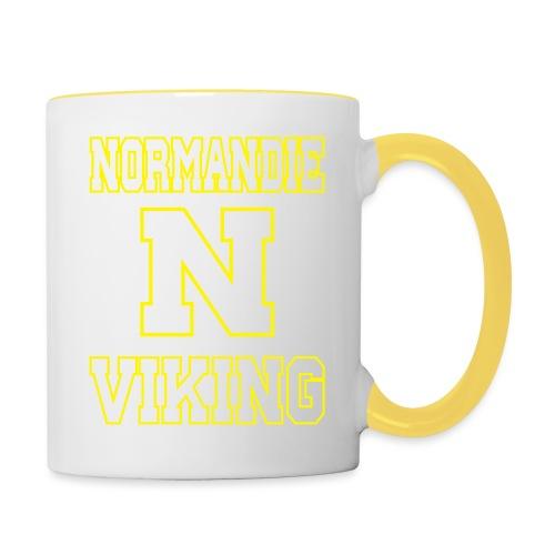 Normandie Viking Def jaune - Mug contrasté