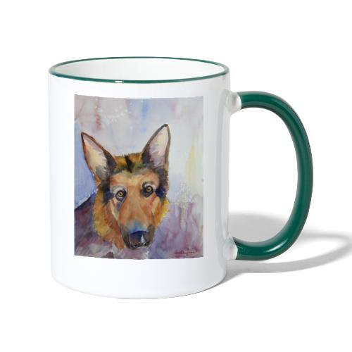 german shepherd wc - Tofarvet krus