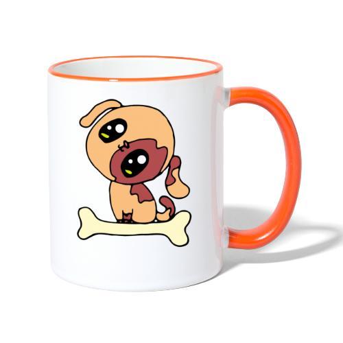 Kawaii le chien mignon - Mug contrasté