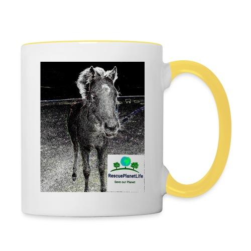 RescuePlanetLife Pferd-Design - Tasse zweifarbig