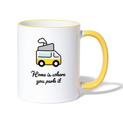 Home is where you park it - DUNKEL - Tasse zweifarbig