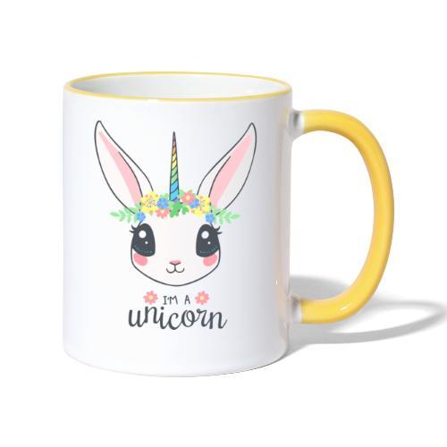 I am Unicorn - Tasse zweifarbig