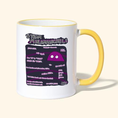 Team Miesmuscheli - Tasse zweifarbig