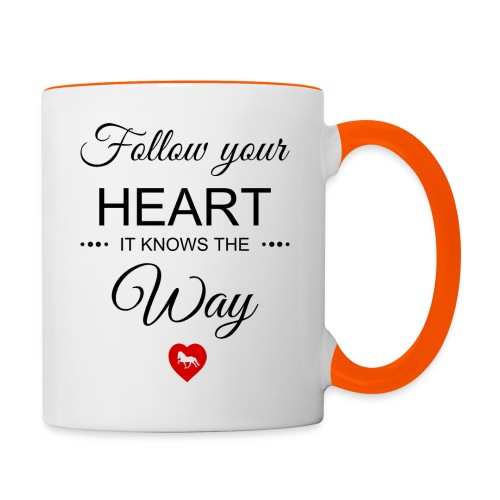 follow your heartbesser - Tasse zweifarbig