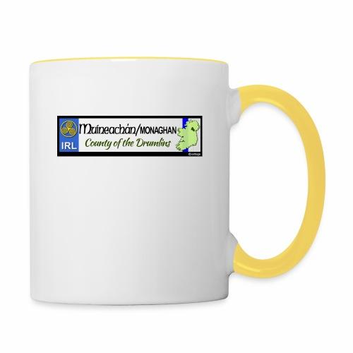 MONAGHAN, IRELAND: licence plate tag style decal - Contrasting Mug