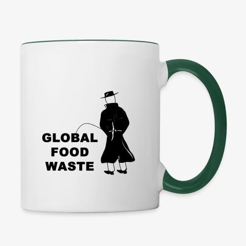 Pissing Man against Global Food Waste - Tasse zweifarbig